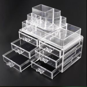 Clear Makeup Box with 6 Drawers, Acrylic Jewelry Organizer pictures & photos