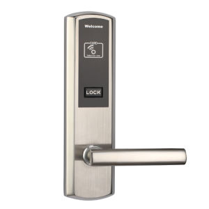 304 Stainless Steel Hotel Door Lock Worked by RF Card and Emergency Key with Two Colors pictures & photos