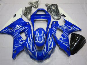 All Blue Add Flames Gloss Fairings Bodywork Motor Yzf R1 00 01
