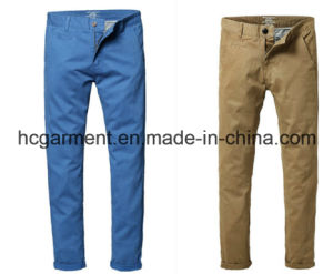Fashion Colorful Cargo Chino Soft Cotton Casual Pants for Man pictures & photos