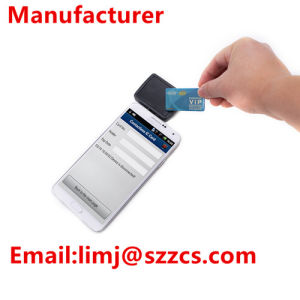 Android Ios Mobile Handheld RFID Nfc Reader, 3.5mm Audio Jack Interface