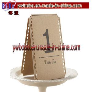 Vintage Affair Brown Kraft Table Numbers 1-12 Wedding Decoration (W1076) pictures & photos