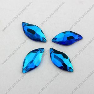 China Wholesale Flat Back Sew on Faceted Crystal Beads for Garment pictures & photos