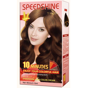 10 Minutes Speedshine Permanent Light Brown Hair Dye pictures & photos