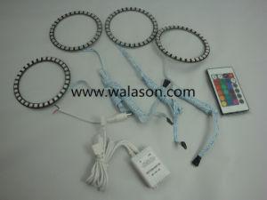 4x RGB 5050 SMD LED Flash Angel Eye Halo Ring IR Headlight Remote Control 12V UK