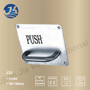 Stainless Steel Public Instruction Caution Sign with Handle (J35)