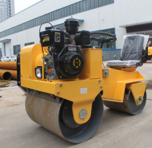 Double Drum Small Road Roller for Asphalt Compaction pictures & photos