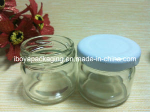30ml Clear Round Honey Jar with White Lug Lid