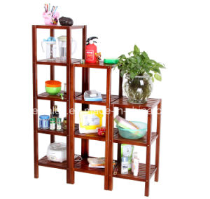 Bamboo Commodity Shelf Display Rack for Household