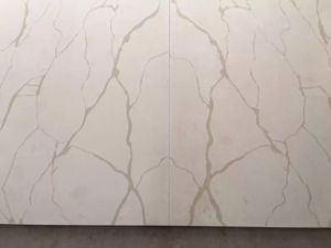 Kitchen Furniture White Veins Grey Quartz Stone