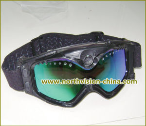 12MP Ski Goggles HD Camera with H. 264 Format