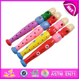 2015 Colorful Wooden Flute Toy for Kids, Educational Wooden Flute Toy for Children, Cartoon Wooden Flute Toy for Baby W07D011 pictures & photos