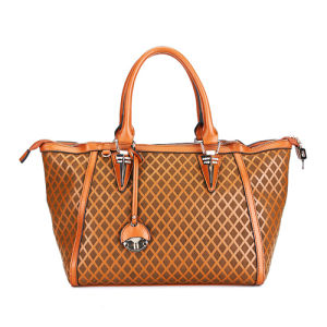 2015 New Famous Brand PU Woven Fashion Women Bag (MBNO036041) pictures & photos