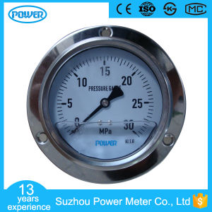 2.5MPa Liquid Filled Back Pressure Gauges with Front Flange pictures & photos