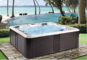 Acrylic 2 Lounges 103 Jets Outdoor Whirlpool with Balboa Control System pictures & photos