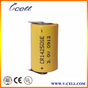 Primary Lithium Battery 3V 900mAh 1/2AA Cr14250es with Long Standing Time