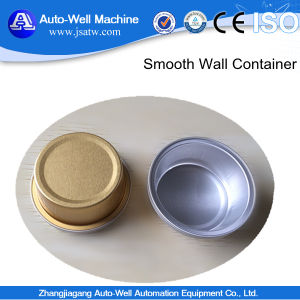 Round Smooth Wall Recyclable Shallow High Quality Food Packing Aluminum Foil Plate pictures & photos