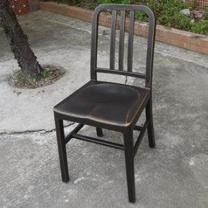 Commercial Cast Aluminum Navy Chair With Antique