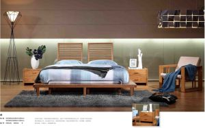 Carbonized Vertical Bamboo Bed and Night Table pictures & photos