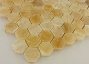 Honey Onyx Beige Marble Mosaic Tile Honed pictures & photos