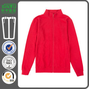 2016 Red Pullover Cheap Fleece Zip up Hoodies Wholesale pictures & photos