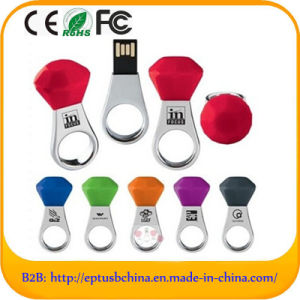 Promotional Diamond Colorful Ring Shape USB Flash Drive (ED508) pictures & photos