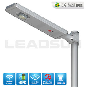Aluminum Bluetooth Control All In One Solar Street Light System