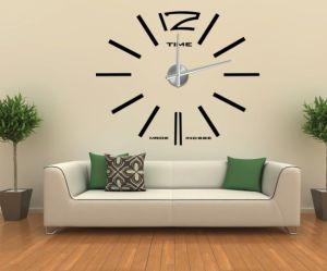 Home Decor 3D Wall Sticker Big Clock 12S003