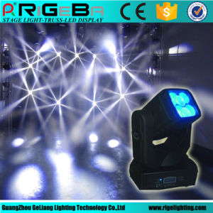 15 Channels 4X25W RGBW 4in1 Indoor LED Beam Moving Head Light pictures & photos