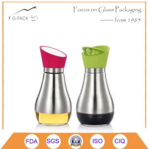 Glass Oil, Vinegar, Sauce Bottle with Stainess Steel Cover and Dispenser pictures & photos