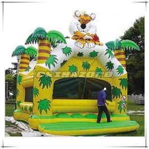 Amazing Design Tiger Forest Theme Inflatable Bounce House