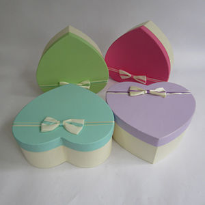 Wedding Favors Presents Box Rigid Heart Shape Paper Boxes Birthday Presents Boxes