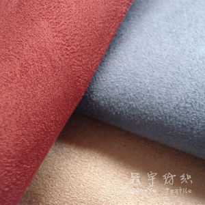 Fr Suede Fabric for Curtain Fire-Retardant Polyester Fabric