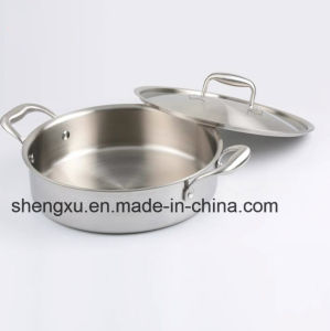 18/10 Stainless Steel Cookware Chinese Frying Pan (SX-FO26-8)