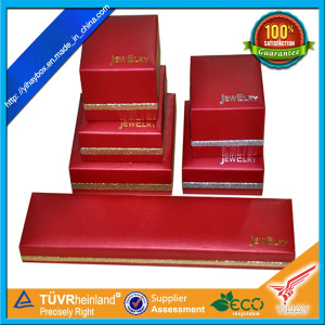 High Quality Red Leather Necklace Jewelry Box (JB03)