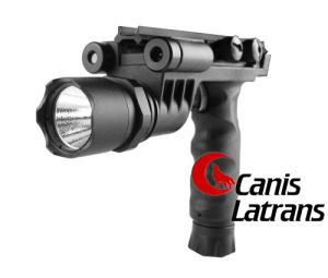 Tactical Grip with Flashlight Head and Green Laser Cl15-0010 pictures & photos