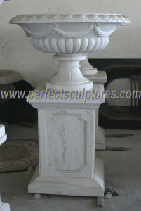 Carved Marble Flower Pot for Garden Stone (QFP318) pictures & photos