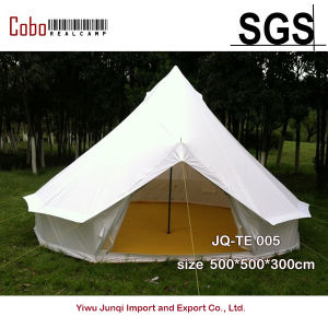 Outdoor Yurt Tent 5m Canvas Bell Tent for Yurt Camping Holiday