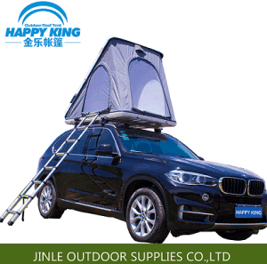 Double Layers and Canvas Fabric Auto Roof Tent for Outdoor Camping