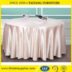 "120"" Round Wedding Polyester Satin Tablecloth Table Cover Table Runner"