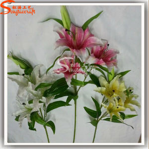 Home Decoration Plastic Artificial Lily Flower pictures & photos