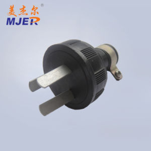 Mjer European Style 2pin Black Plug 15A 250V pictures & photos