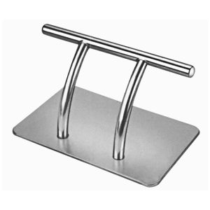 China Stainless Steel Footrest For Styling Chair Salon Furniture - Stainless steel table parts