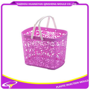 Plastic Hollow Design PP Basket Mould with Handle pictures & photos