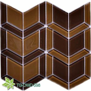 Brown Quadrilateral Glass Mosaic (TG-OWD-598)