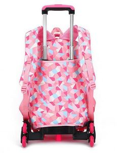 Geometric Figure Kids Rolling Carry on Luggage School Backpack Trolley Bag pictures & photos