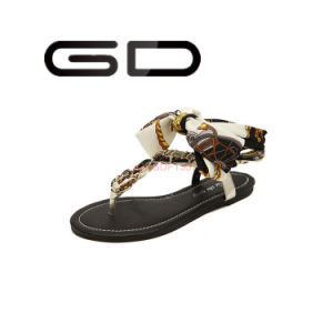 Gdshoe Ladies Beach Sandals Tie up Sandals
