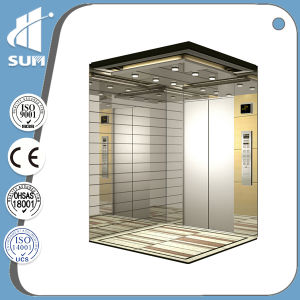 Ce Approved Speed 1.5m/S All 304 Hairline Ss Passenger Elevator pictures & photos