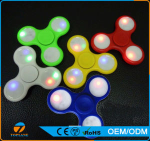 Tri Fidget Spinner Toy with LED Lights Hand Spinner pictures & photos