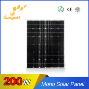 Sungold Top Quality High Efficiency Mono 200W Solar Panel 36V